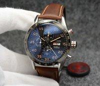 مصنع بالجملة movimiento relojes ووتش pulsera 44mm الإنزلاق الوجه الكوارتز الكرونو hombres cal intoxidable 1887 acero gwhag