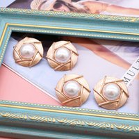 Stud Curly Earrings Accessories Sweet Round-Alloy Designs Party Female Girls