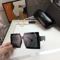 Diseñador de gran tamaño Gafas de sol Gafas de sol con hombres Mujeres Al aire libre Sombreado Mirror PC Frame Fashion Classic Lady Sun Glasses Espejos de mujer