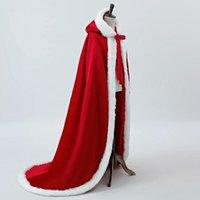 Wraps & Jackets Wedding Accressories White Bridal Cloak Warm Cape Faux Fur Coat Outfits Accessories