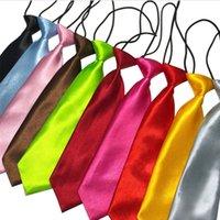 20 reine farben gemischte kinder binden baby hals krawatten jungen mädchen neckwear kinder neckcleine mode zubehör