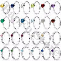Cluster Rings Genuine 925 Sterling Silver Ring, Shiny December Birthstone, Suitable For Original Female Birthday Party Anniversary Jewelry