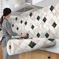 Aluminum Coating Waterproof Modern Kitchen Living Room Furniture Desktop Self Adhesive Contact Paper Home Decor Wallpapers
