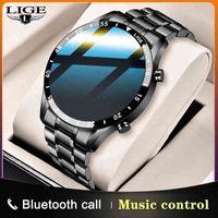 Designer relógio marca relógios relógio de luxo Etooth chamada de música controle de música esporte fitness homens cardíacos espertos para a caixa de Android