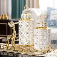 Nordic decoration home Flower vase Modern Ceramic Vases Ornaments Living room decoration Light luxury Pottery Pot home decore