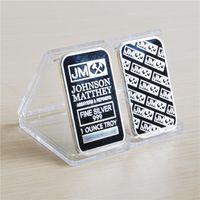 Moneta Ameriana non magnetica JM Johnson Matthey 1 Oz Pure 24k Real Gold Argento Placcato barra di lingotti con diversi numeri di serie
