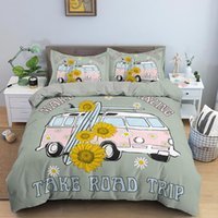 Bedding Sets Cartoon Sunflower Pattern Kids Duvet Cover Set Comforter Bed SetKing Queen Size Bedclothes For Girls And Boys