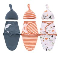 Blankets & Swaddling Elinfant 100% Cotton Baby Sleeping Bag Swaddle Wrapper To Hold The Born Anti-startling