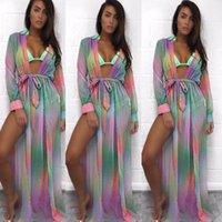 Ropa de playa vestidos casuales gasa de verano sexy leopardo bikini cubierta de baño traje de baño traje de baño playa largo maxi vestido hirigin 2021 mujeres