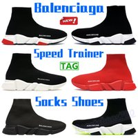 2021 Mens clear sole sneakers fashion speed trainer socks shoes triple black white yellow fluo oreo red chaussures men women running shoes