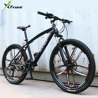 x-front 브랜드 24/26 인치 탄소 강철 프레임 24/27 속도 야외 내리막 자전거 산악 자전거 디스크 브레이크 MTB Bicicleta 자전거
