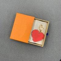 Heart Key Chain Boucle Boucle Lovers Car Keychain Homme Cuir Designers Keychains Hommes Femmes Sac Pendentif Accessoires