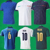 Fans Spielerversion Italien 2021 Fussball Jerseys 21 22 Italie Home Auswärts Verratti del Piero Immobilien Insignente Football Hemden Italienische Männer Kinder Kits