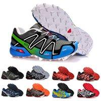 حذاء رياضي رجالي من سالومون سبيد كروس 3.0 III CS للجري ثلاثي أسود وأبيض وأزرق وأحمر وأصفر وأخضر وأحذية رياضية خارجية للرجال والنساء 40-47