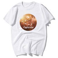 2021 Nuevos doce constelaciones Capricornio estrella camiseta hombres divertidos encantadores parejas en el amor camiseta Tops casuales de algodón tshirts [ysvwoqs@163.com