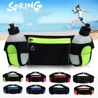 Outdoor Bags Running Waist 2 Water Bottle Camping Hiking Fitness Man Women Gym Lightweight Belt Bag Female Sports Fanny Packs