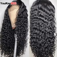 Lace Wigs 30 Inch Water Wave Wig Frontal Pre Plucked For Woman 13x4 Front 4x4 Closure Human Hair