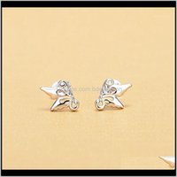 Stud Jewelryelegant Animal Series For Women Cute Butterfly Shaped Pendant Earrings With Micro Paved Fashion Jewel Earring1 Drop Delivery 2021