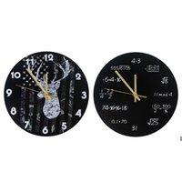 Industrial moderno relógio de parede arte americana personalidade sala de estar relógios home escritório escola decoração vintage dhd6220
