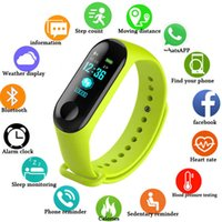 Mens Watches Men's and women's sports connection watch, activity bracelet, heart rate monitor, m3 color screen, children, men  women