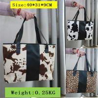 Cross Body WENTOU Women's Plush Large Bag Cow Leopard Printed Handbag Female Designer Capacity Shoulder Bags Drop