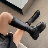 Designer 2021 Fashion Women Boots Winter Heels Quality Long Comfort Thigh High Boot Botas Zipper Knee-high