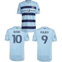 21 22 Sporting Kansas City Futebol Jerseys Versão 2021 2022 Pulido Busio Russell Zusi Football Shirts Home Adulto Maillot de Futol