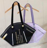 قناع حقيبة شخصية الاتجاه الفلورسنت الترفيه واحد كتف أكياس التسوق المحمولة سعة كبيرة