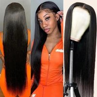 Lace Wigs 13x4 30 Inch Straight Front Wig Transparent Frontal Pre Plucked Remy Brazilian Human Hair