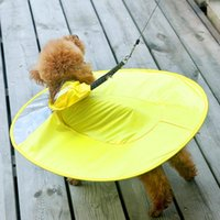 Dog Apparel Small And Medium Transparent Waterproof PVC Disc Raincoat Jacket For Pet Dogs Practical Function Applicatio