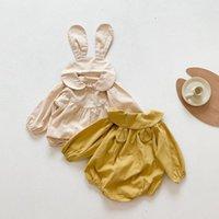 INS Baby Spring Filles BodySuits Jumpsuits pour nourrissons Beaux Rompeurs à manches longues