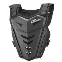 Uomo Giacca Armatura per il corpo Moto Moto Moto Gilet Back Pellicola Protezione toracica Off-Road Dirt Bike Protective Gear Black