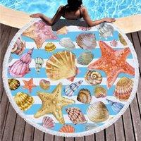 OEM مخصص تصاميم ستوكات جولة شاطئ منشفة داخل العالم سميكة دش الحمام المناشف الصيف السباحة دائرة اليوغا حصيرة 150 سنتيمتر RRD7314