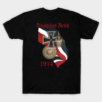Camisetas de los hombres de diseño fresco bandera alemana PRUSIAN Pickelhaube Hebilla Hebilla Hierro Cross T-shirt. Camiseta de manga corta de algodón de verano S-3XL