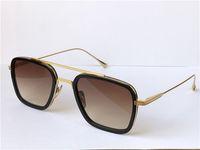 패션 디자인 남자 선글라스 006 스퀘어 프레임 빈티지 Popula 스타일 UV 400 보호 야외 안경 케이스
