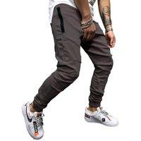Случайные карандаш брюки бегуны спортивные штаны мужчины хип-хоп твердые тонкие брюки 2021 осень новая мужская мода уличная одежда хлопчатобумажная трекпантов