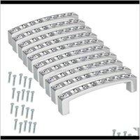Griffe Ziehen Hardware-Gebäudebedarf Home Gardenin 6 teile / satz Moderne Diamantkristall Chrom der Zuggriff Schrank Türschrank