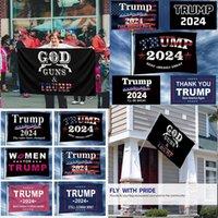 NUOVO!!! 3x5ft Gun Pisons Trump Flag Doppia Pistola Sharpshooter Trump Bandiera Banner Elezione presidenziale Banner Banner Trump Campagna Bandiera HWD8205