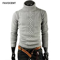Favocent Sweater masculin Pull-oeuvre Men Marque Casual Slim Stable High revers High revers Couverture Jacquard 'S XXL 210818