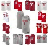 NCAA College Ohio BUCKEKEYES BUCKEYES Jersey di pallacanestro 34 Kaleb Wesson 35 Gary Bradds 4 Craft Duane Washington 5 Havlicek cucito personalizzato
