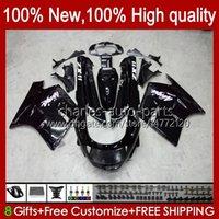 Kropp för Kawasaki Ninja ZX-11 R ZZR-1100 ZX-11R ZX11R 90 91 92 93 94 95 30HC.1 ZZR 1100 CC glansig svart ZX 11 R 11R ZX11 R ZZR1100 1996 1997 1998 1999 2000 2001 Fairing Kit