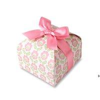 ورقة كب كيك مربع الأزياء كوكي هدية التفاف صناديق التعبئة البسكويت الحلوى حالة المطبخ خبز حزب اللوازم HWD6646