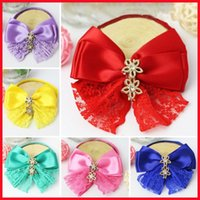 Dog Apparel Pet Accessories Cute Bow-Knot Ties Adjustable Polyester Collars Puppy Necklace For Small Dogs Neckties Grooming Supplies