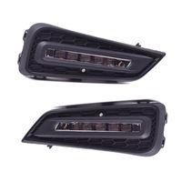 Car LED Front Fog Lamp Assembly Modified Daytime Running Lights LED Driving Streamer Steering for C-IVIC 15-18