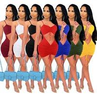 Women sexy Dresses spaghetti strap night club wear Summer Clothing hollow out mini Skirts bodycon Dress Plus size S-XXL