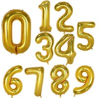 40 Inch Large Numbers Balloons From 0 to 9 Birthday Party Decorations Helium Foil Mylar Big Number Balloonc5ef