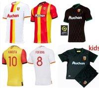 RC عدسة Sainte-Barbe Soccer Jerseys Kakuta Ganago Sotoca Muinga Medina Bade 2021 Mailleot De Fot Men Kits Kids Football Offe