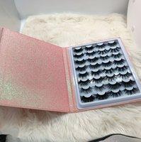 Оптом ресницы упаковки ресниц книги книги ресниц создать свой собственный бренд пользовательских 16 пар норковых ресниц