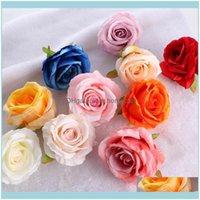 Праздничные GardenPCS / пакет искусственных цветов головы шелк роза цветок свадьба вечеринка украшения дома DIY венок поделки ремесла декоративный венок