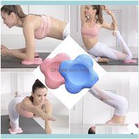 Yoga Fitness Saciosts Спорт Outdoorsyoga Mats Knee Pad Поддержка для Pilates Expercise Подушка Клауса Коленки Локоть Голова Рука Drop Доставка 2021 LWB